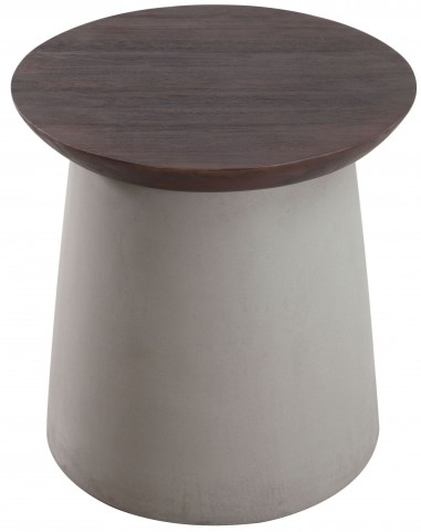 Henge Cement & Walnut Side Table