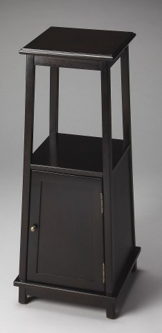 Masterpiece Rubbed Black Pedestal Cabinet