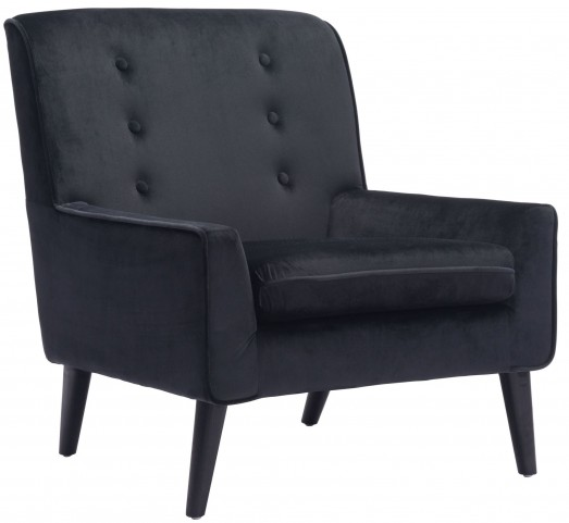 Coney Black Velvet Arm Chair