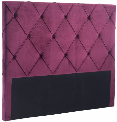 Matias Wine Velvet Queen Headboard