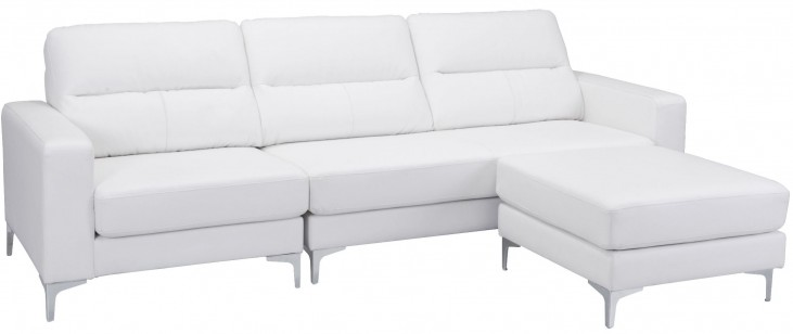 Versa White Sectional