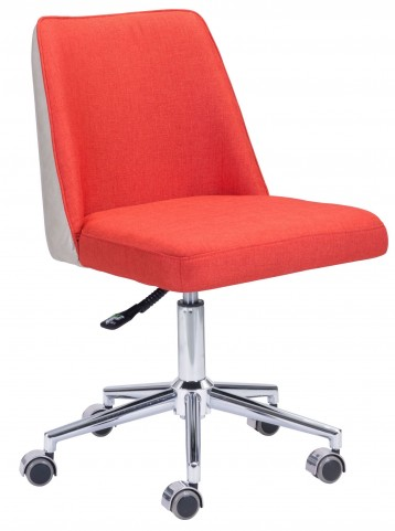 Season Orange & Beige Office Chair