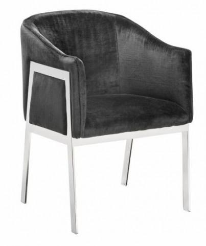 Rialto Gray Fabric Armchair