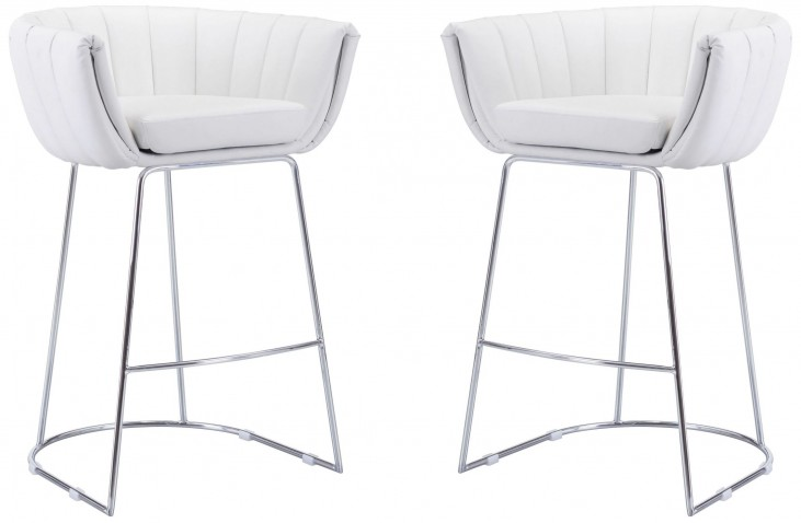 Latte White Bar Chair Set of 2