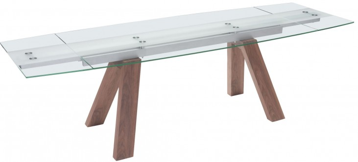 Wonder Walnut Extendable Rectangular Dining Table