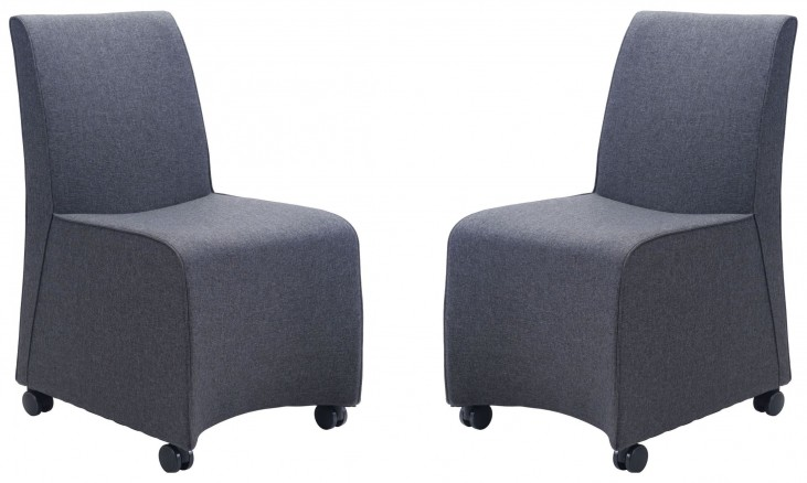 Whittle Dark Gray Dining Chair Set of 2