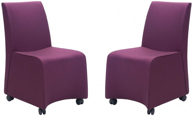 Whittle Purple Dining Chair Set of 2