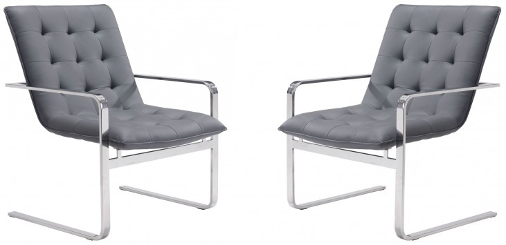 Solo Gray Occasional Chair Set of 2