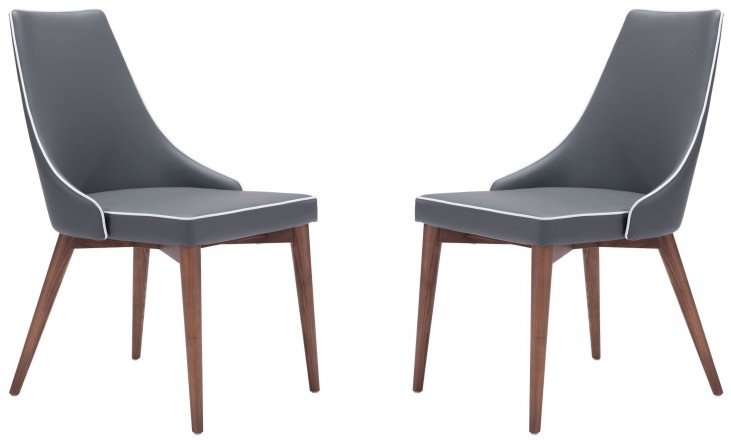 Moor Dark Gray Dining Chair Set of 2