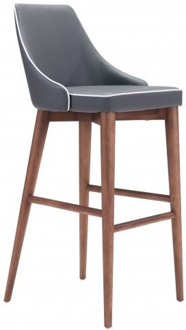 Moor Dark Gray Bar Chair
