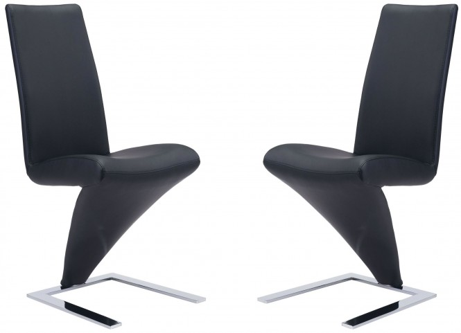 Herron Black Dining Chair Set of 2