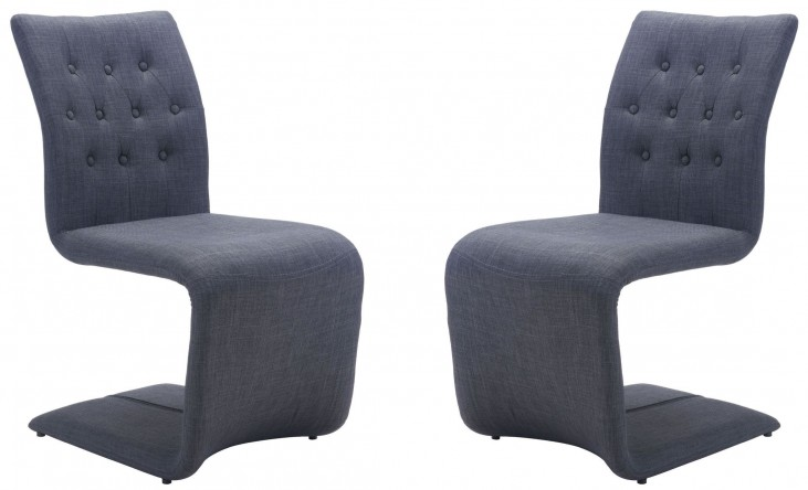 Hyper Dark Gray Dining Chair Set of 2