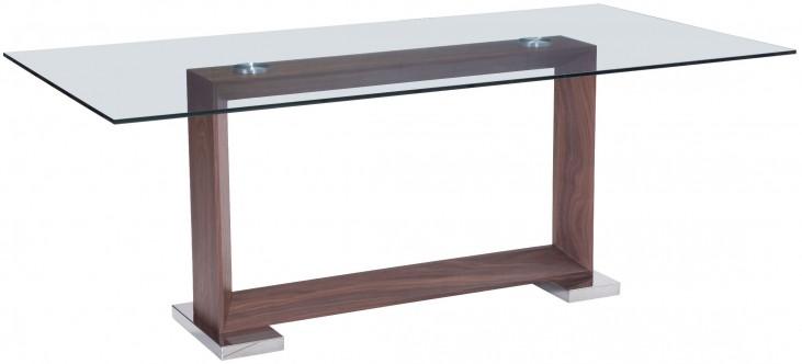 Oasis Walnut Rectangular Dining Table