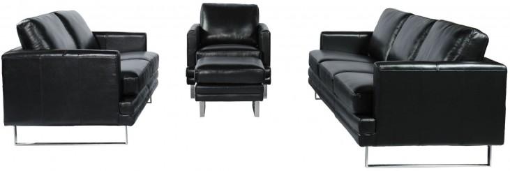 Melbourne Dark Chocolate Leather Living Room Set