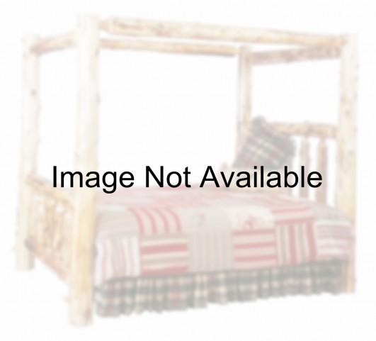 Vintage Cedar Full Canopy Log Bed