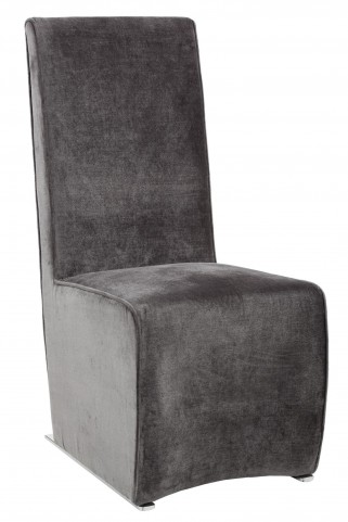 Remington Bella Shale Grey Fabric Dining Chair Set of 2