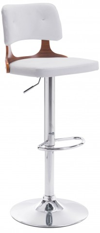 Lynx White Bar Chair