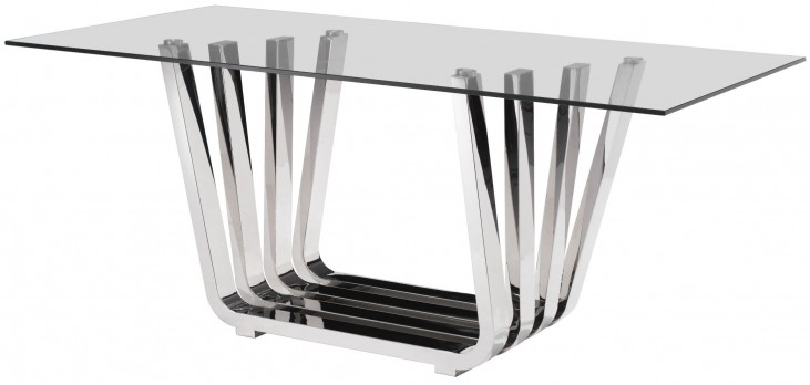 Fan Chrome Rectangular Dining Table