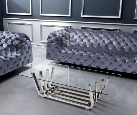 Fan Chrome Occasional Table Set