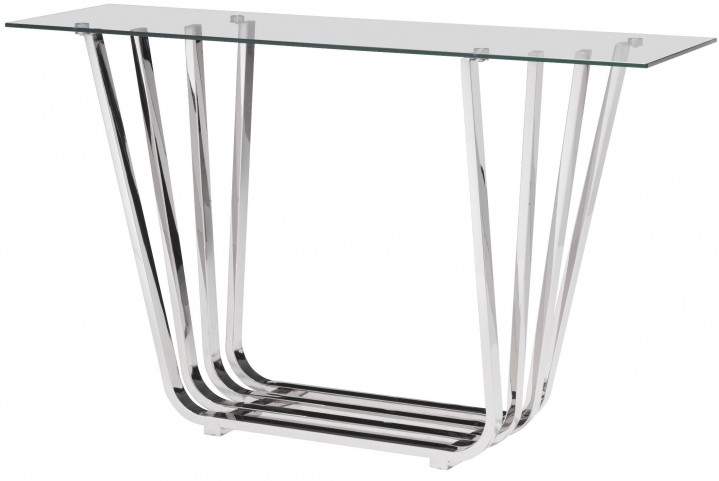 Fan Chrome Console Table