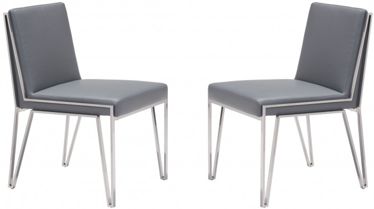 Kylo Gray Dining Chair Set of 2
