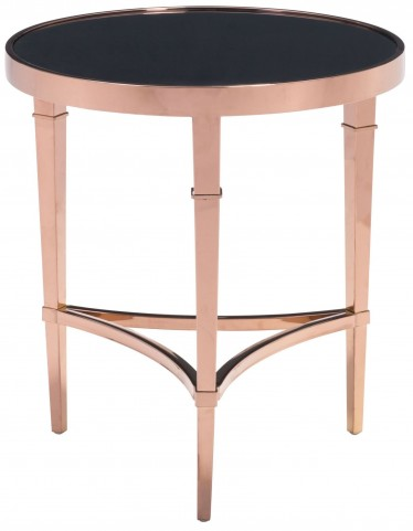 Elite Rose Gold & Black Side Table