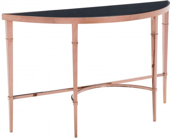 Elite Rose Gold & Black Console Table