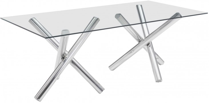 Stant Chrome Rectangular Dining Table
