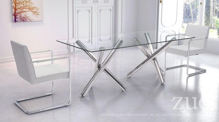 Stant Chrome Rectangular Dining Room Set