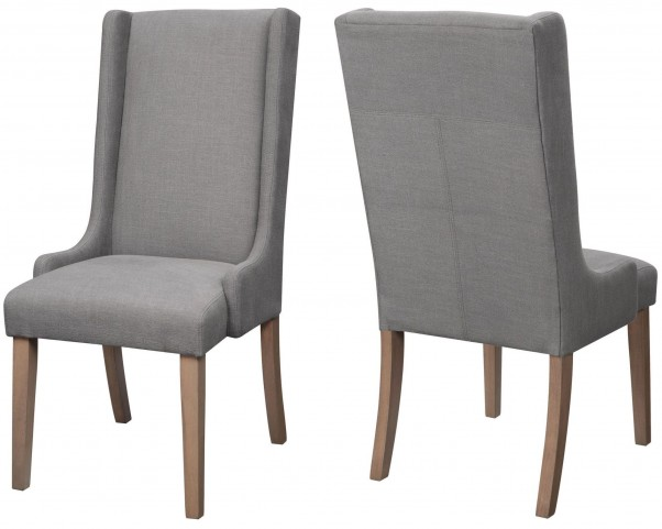 Levine Weathered Grey Side Chair Set of 2