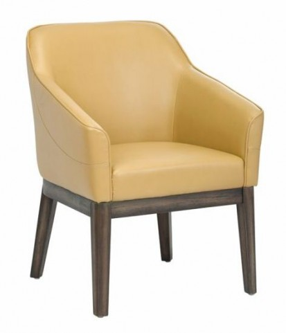 Dorian Mustard Leather Armchair