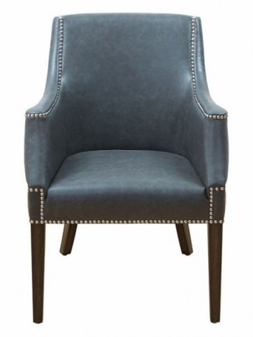 Calabria Ash Gray Leather Armchair