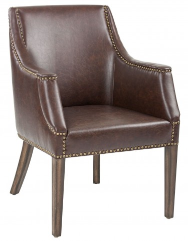 Calabria Chestnut Brown Leather Armchair