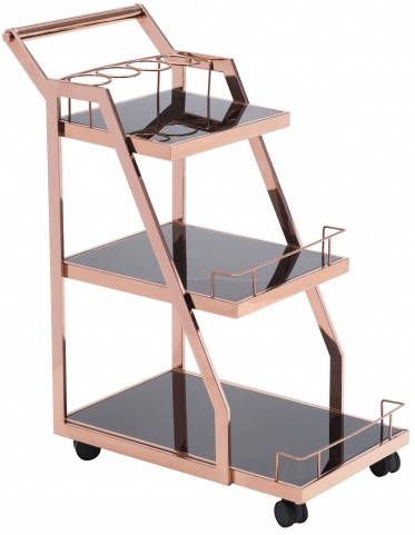 Acropolis Rose Gold Serving Cart