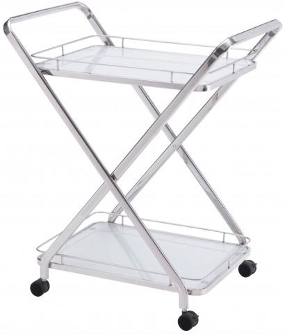 Vesuvius Stainless Steel Serving Cart