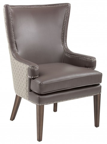 Rioja Dove Grey And Stencil Grey Fabric Armchair