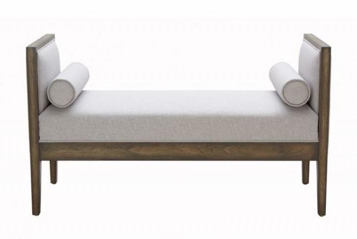 Pietro Silver Linen Bench