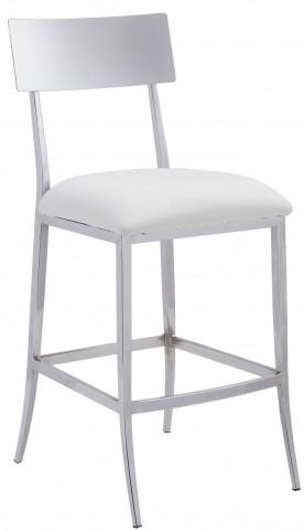Mach White Counter Chair