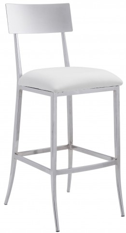 Mach White Bar Chair