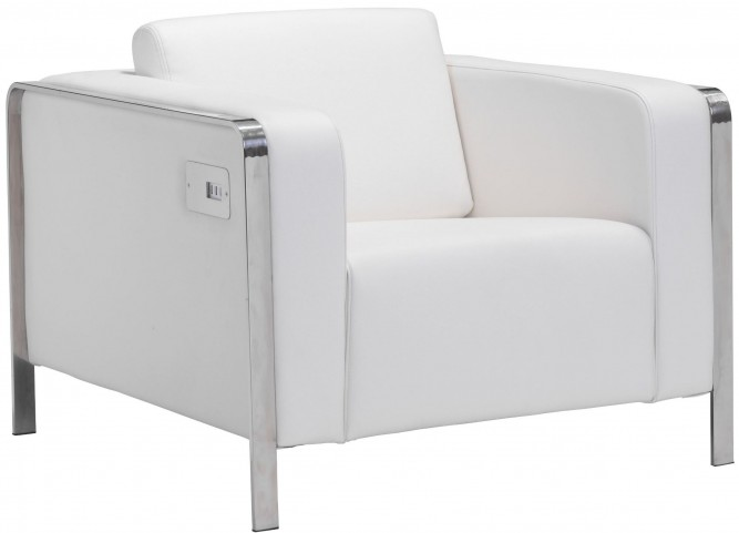 Thor White Arm Chair