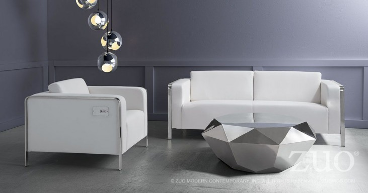 Thor White Living Room Set