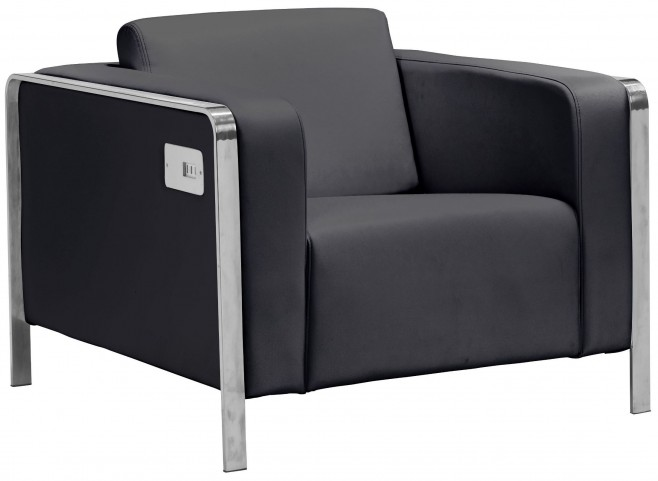 Thor Black Arm Chair