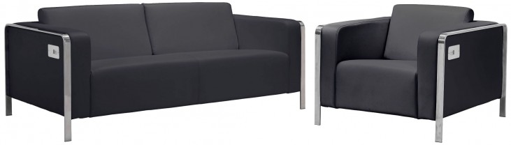 Thor Black Living Room Set