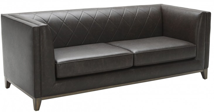 Salvatore Ash Grey Leather Sofa