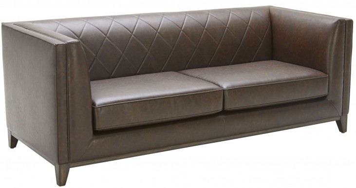 Salvatore Chestnut Brown Leather Sofa