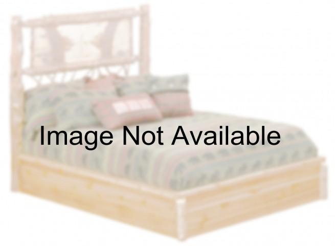 Cedar Twin Adirondack Twig Platform Bed