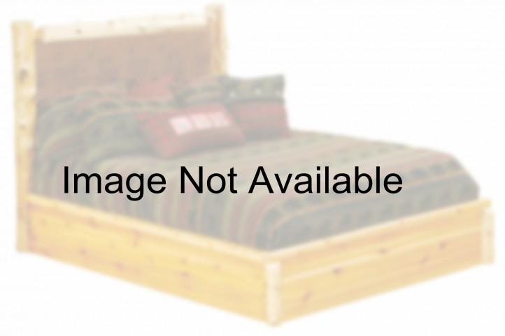 Vintage Cedar Twin Leather Upholstered Platform Bed