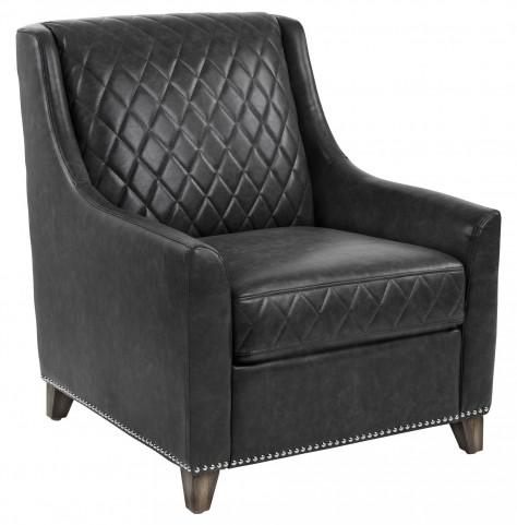 Bergamo Black Fog Leather Armchair