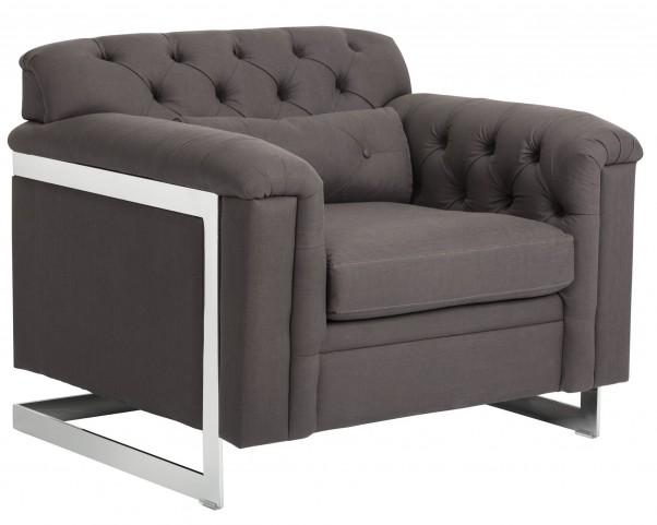 Governor Marino Charcoal Fabric Armchair