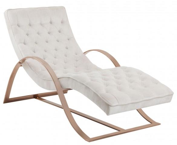 Palais Bella White Fabric Chaise